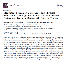 Meditative Movement, Energetic, and Physical Analyses of Three Qigong Exercises